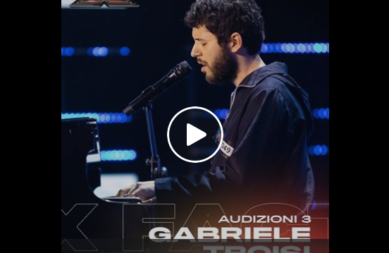 "Gabriele Troisi canta ""Rose Viola"" di Ghemon a X Factor 2019 (Video)"